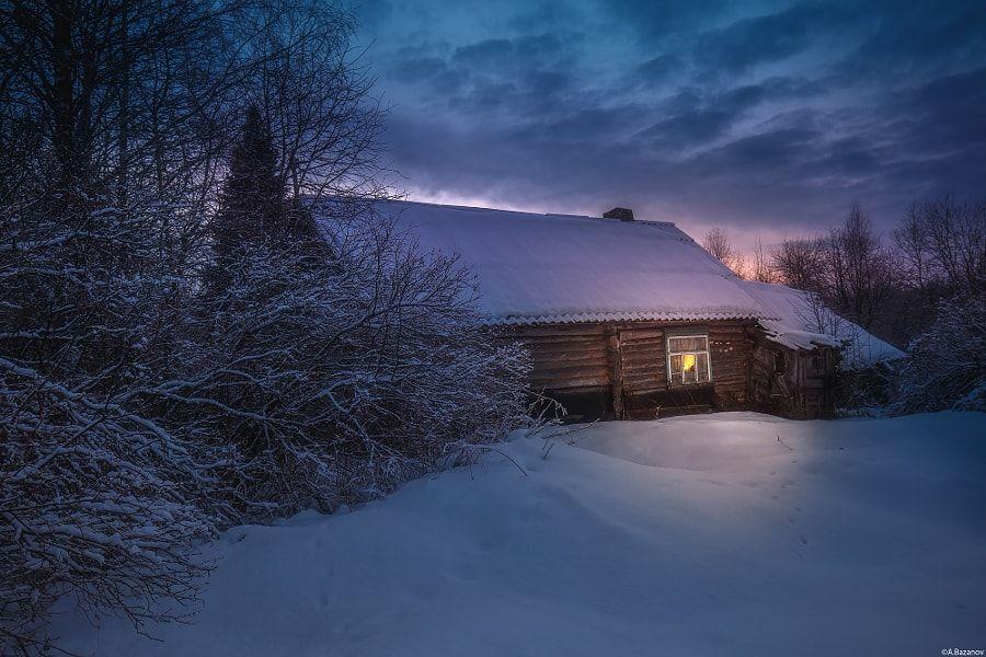 Зимний вечер дома картинки