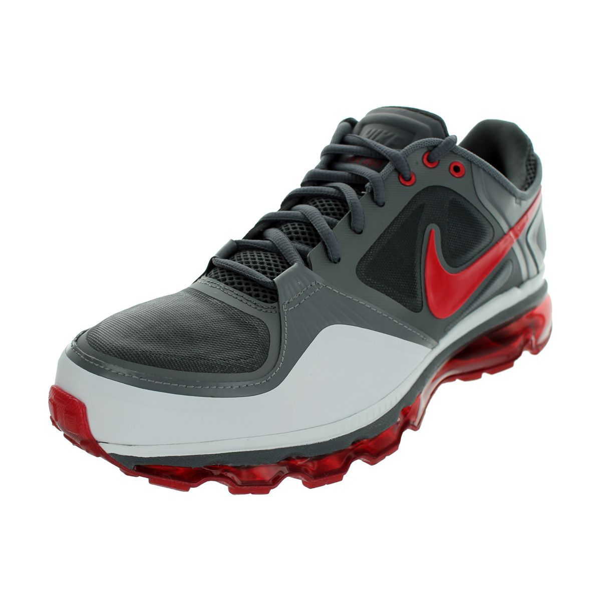 cheap for discount 6efaa 33096 Nike Trainer 1.3 Max+ Running Shoes (Dark Grey Varsity Red White Cool Grey)  (8), Green