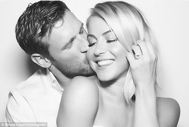 'I'm just feeling so happy and blessed every moment of every day!' Not seen with Hough on Tuesday was her fiancé - Washington Capitals player Brooks Laich - who popped the question last month