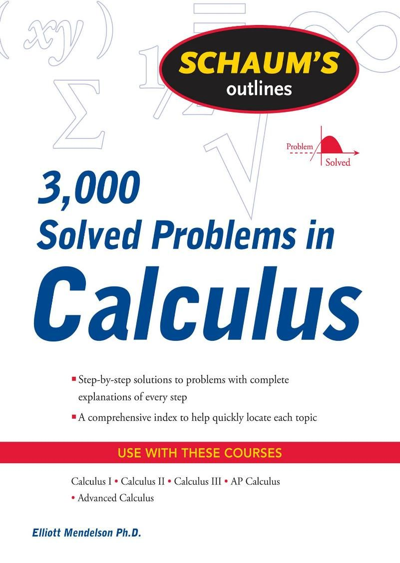 This Collection Of Solved Problems Covers Elementary And Intermediate Calculus And Much Of Advanced Calculus We Have Aimed A Calculus Mathematics Ap Calculus