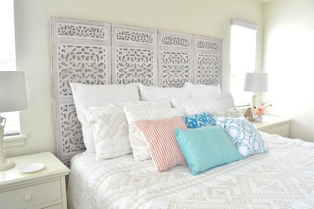 Privacy Screen To Headboard; Antropology Inspired By Tea Rose Home
