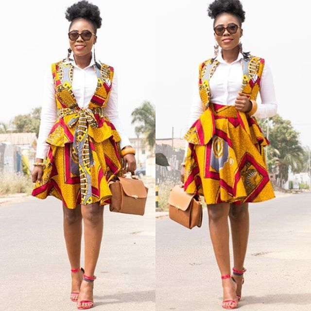 African American Teenage Girls Fashion: Super Cute Vest And Skirt Combo