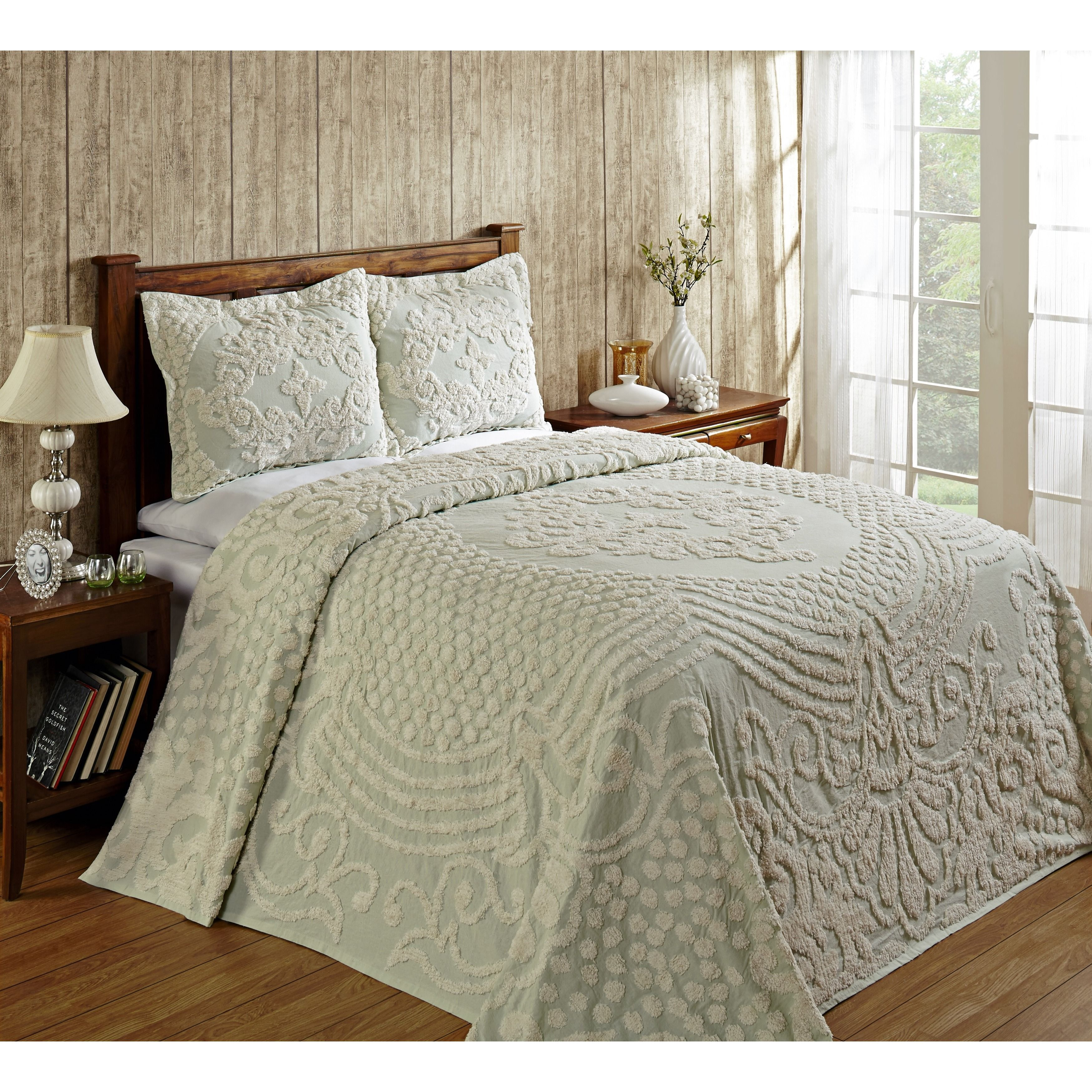 Old Fashioned Cotton Bedspreads.The Florence Cotton Chenille Tufted Bedspread Features