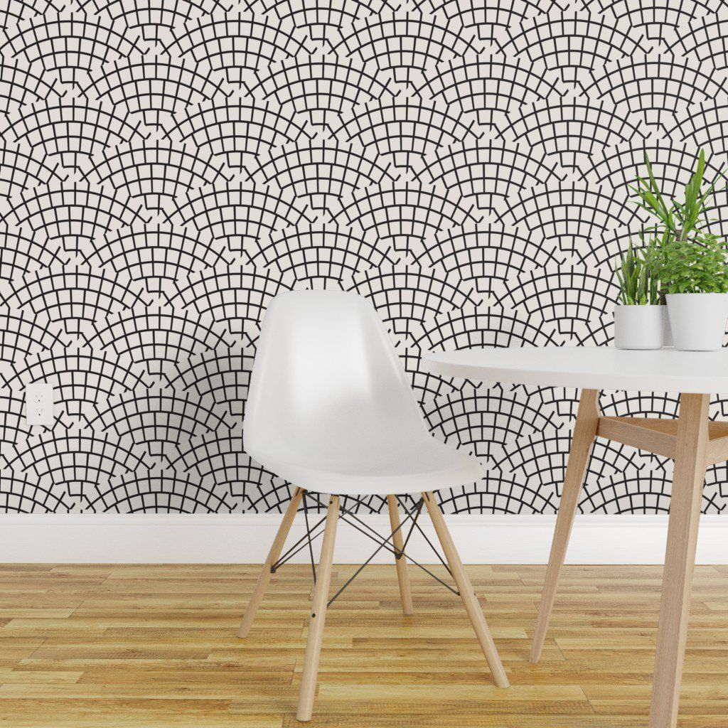Peel And Stick Removable Wallpaper Tile Mosaic Black White Modern Monochrome Walmart Com Removable Wallpaper Modern Monochrome Quick Decor