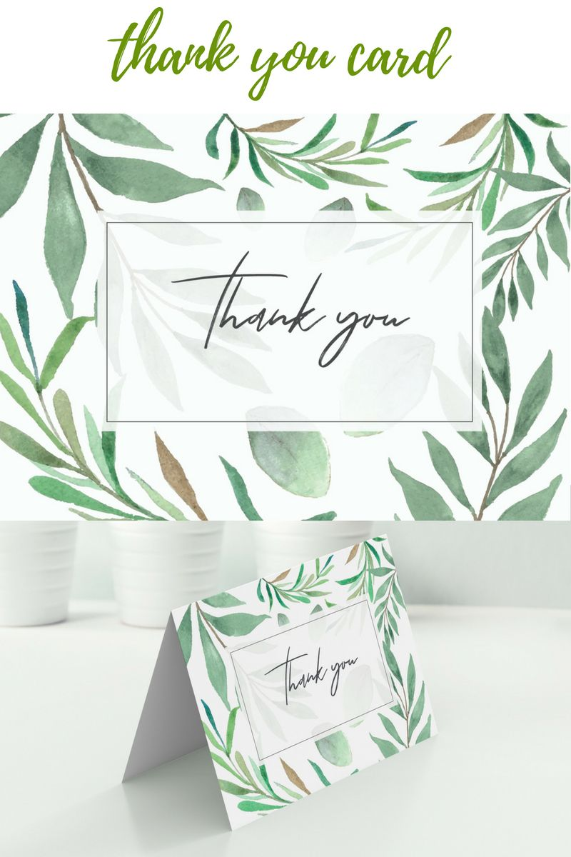 Thank You Card Folding And Flat Printable Wedding Thank You Etsy Cards Thank You Cards Printable Wedding Sign