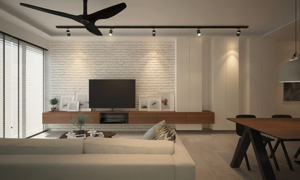 Image result for tv console with feature wall   인테리어, 꿈의 집 ...