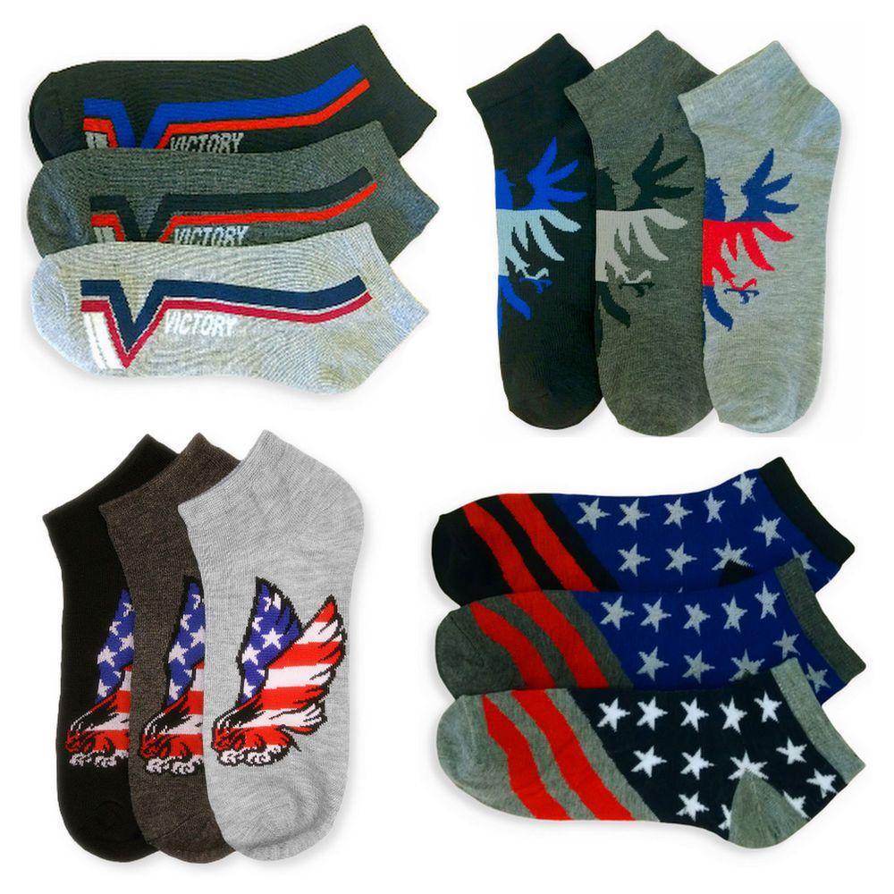 12 pairs socks men/'s ankle quarter sport plain athletic casual cotton socks size 10-13 socks