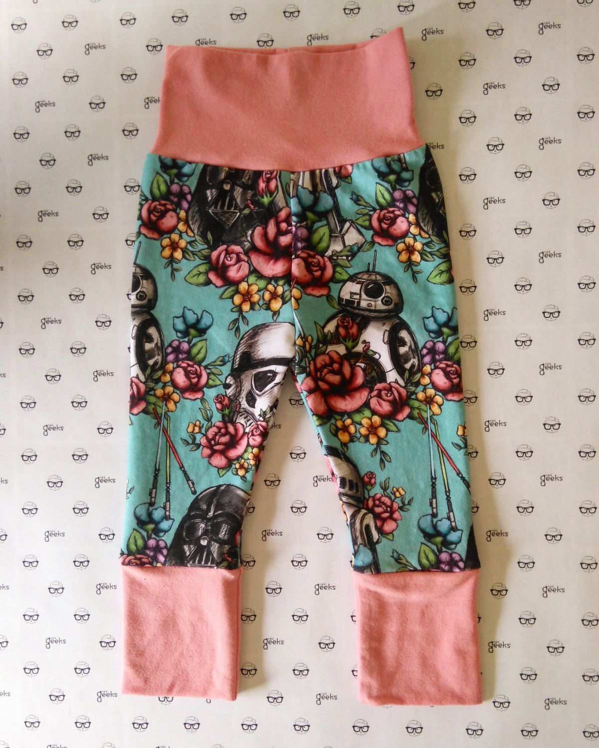 d4c68ecd3 Grow with me pants, baby yoga pants, baby leggings, Star Wars baby, floral  baby girl, jedi princess, girl star wars, star wars bb8 by MiniGeeks on Etsy
