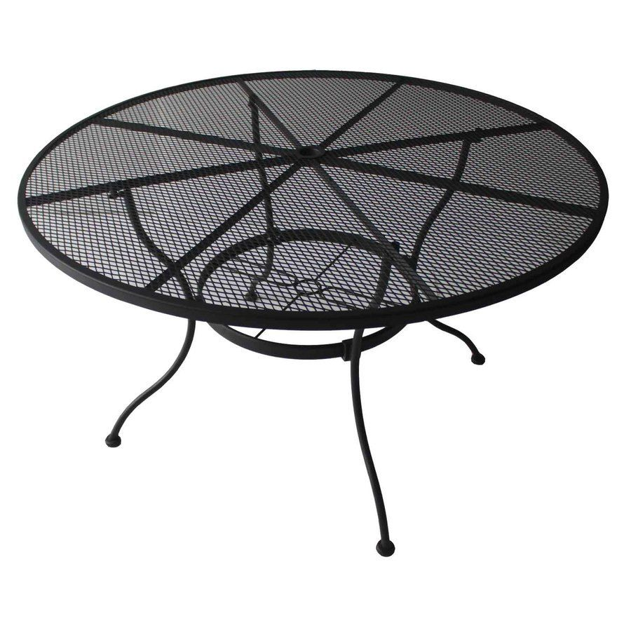 870e29af18e1 Shop Garden Treasures Davenport 48-in W x 48-in L Round Steel Dining Table  at Lowes.com
