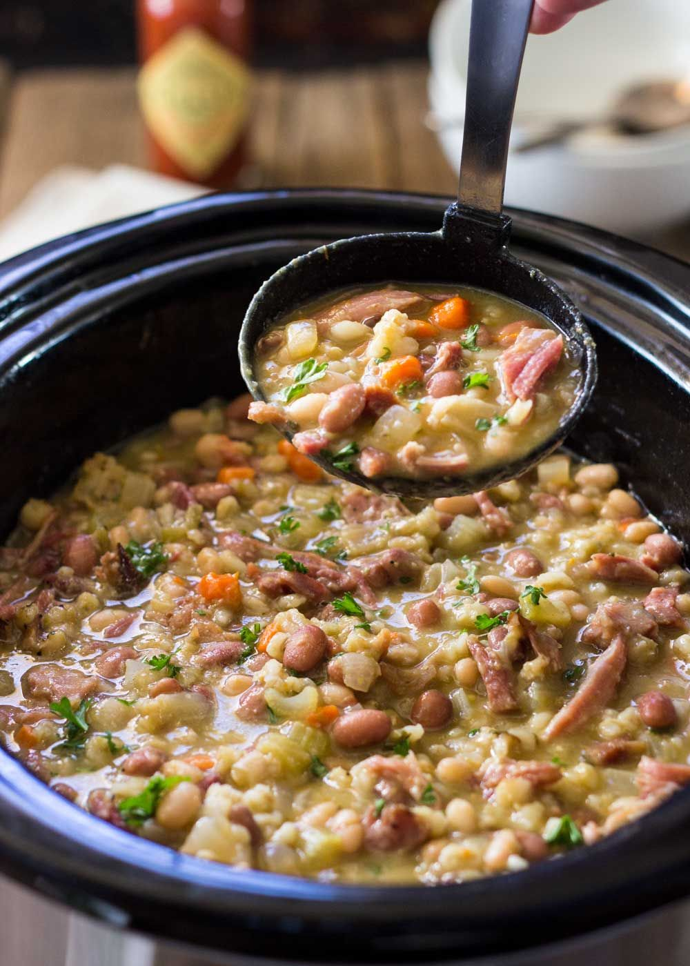 There S Nothing Like A Slow Cooker Ham Bone Bean Soup