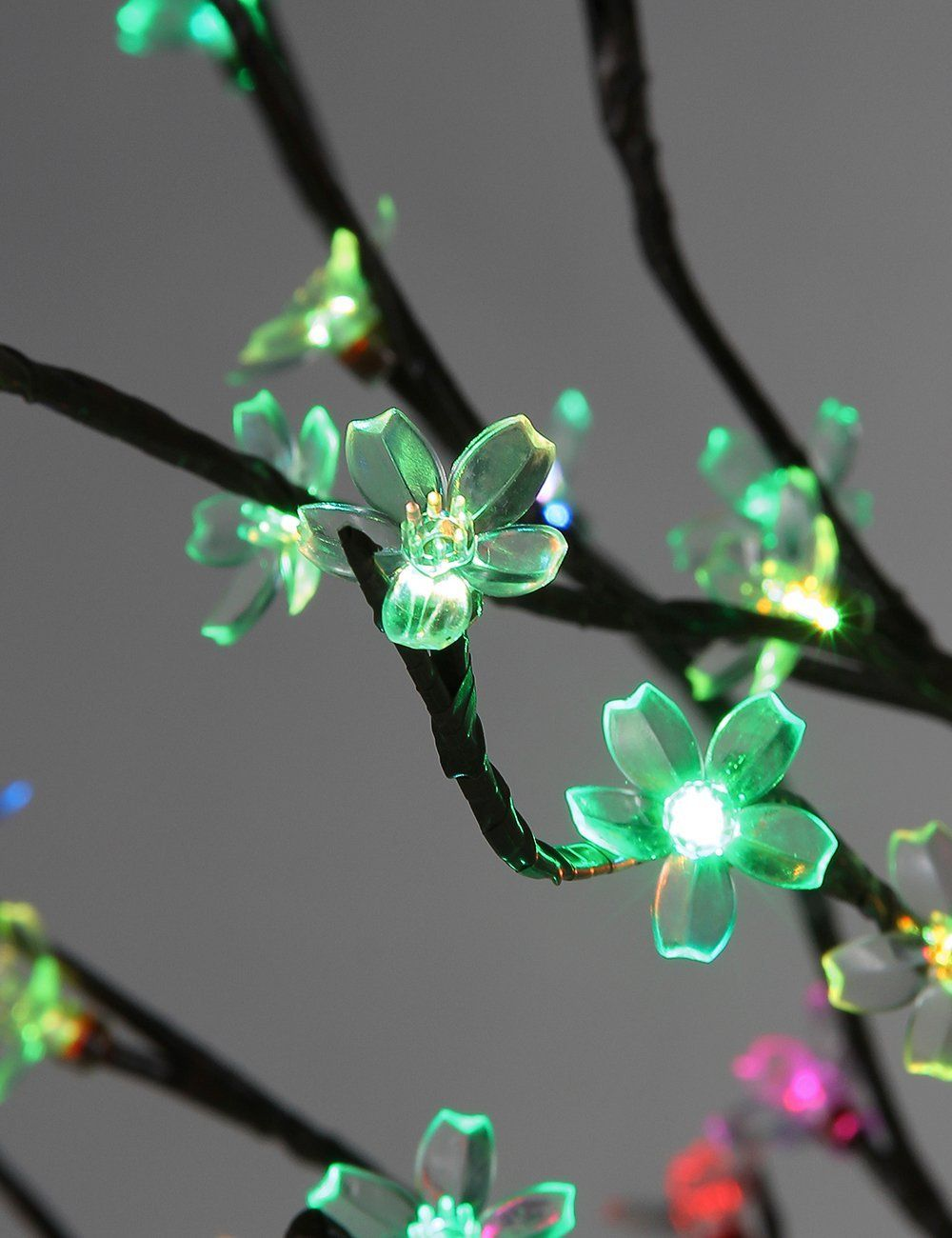 Lightshare NEW 6Ft 208 LED Cherry Blossom Tree Light,Slow-Color ...