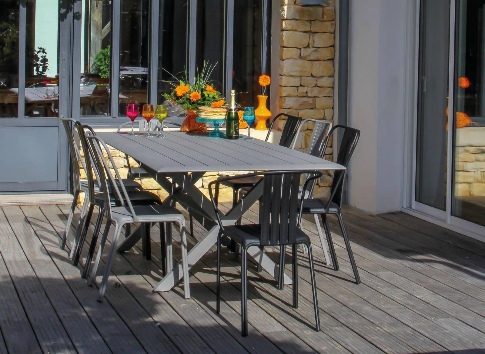 Table de jardin rectangle Bridge 220 cm – Proloisirs   Terrasse ...