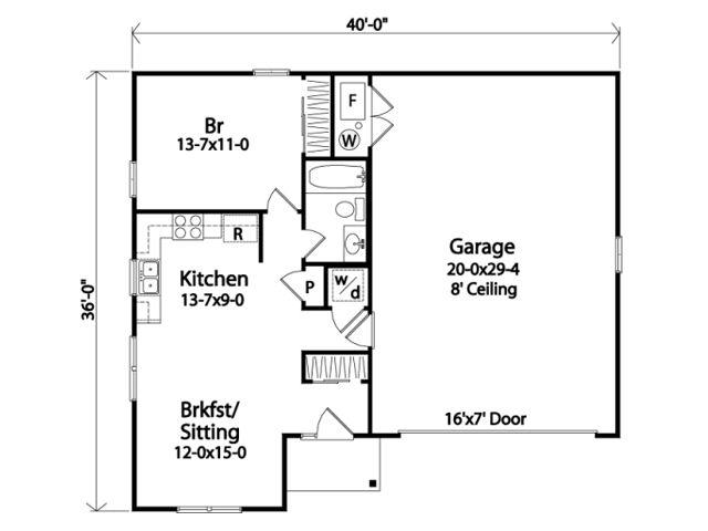 665 sq ft garage apartment (1 level) FTH Garage Pinterest