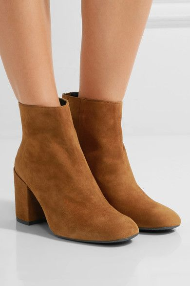 0a1f812286f6e Heel measures approximately 65mm/ 2.5 inches Camel suede Zip ...