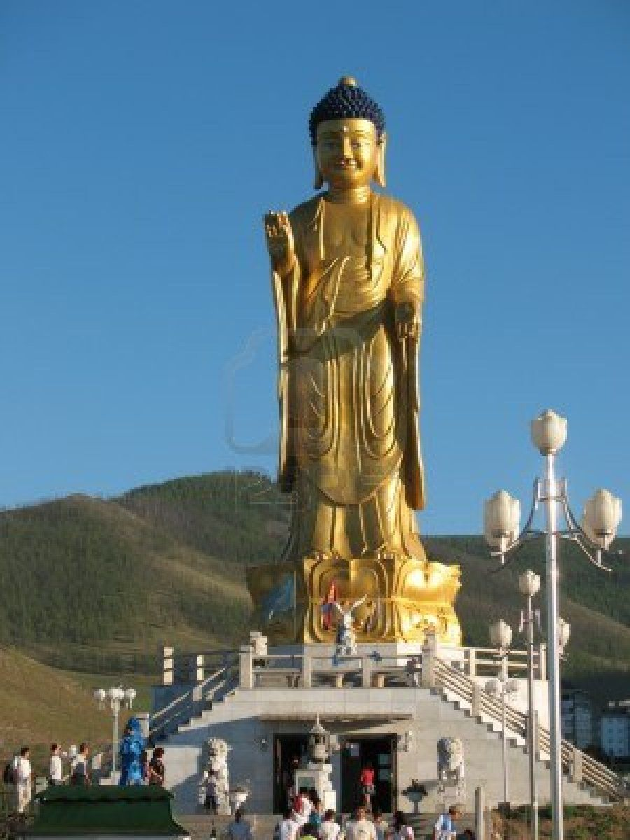 Buddha statue in Ulan Bator, Mongolia
