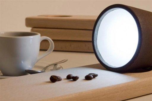 Lamp made of coffee