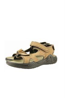 Sandales en cuir<BR>Beige