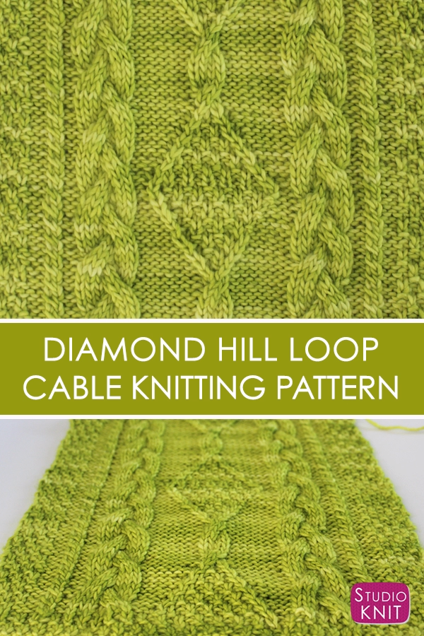 Photo of Strickschal mit Diamond Hill Loop Celtic Cable Pattern