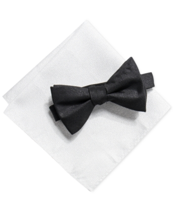 dca474ba3c48 Alfani Men's Solid Pre-Tied Bow Tie & Solid Pocket Square Set, Created for  Macy's - White