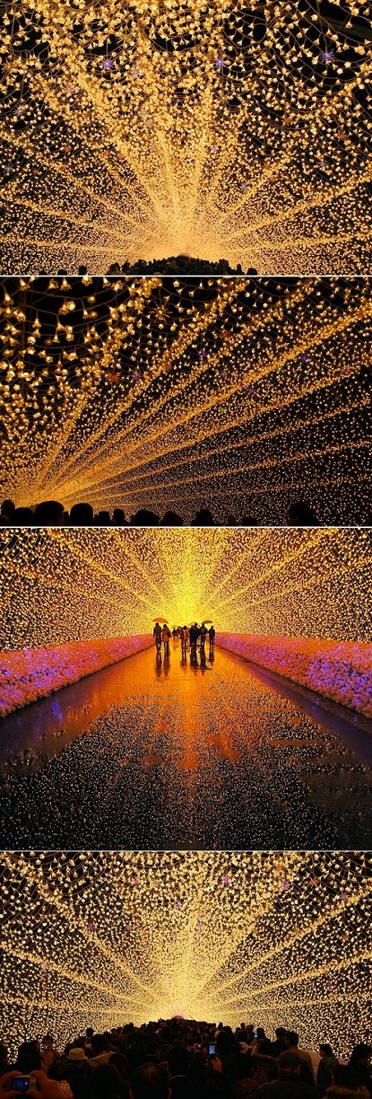 Whimsical Tunnel Of Lights In Japan