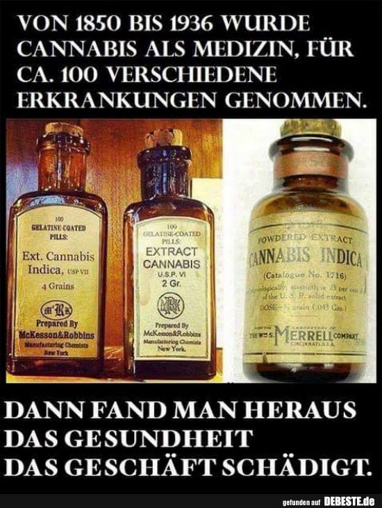Photo of From 1850 to 1936, cannabis was used as medicine .. | Funny pictures, sayings, jokes …