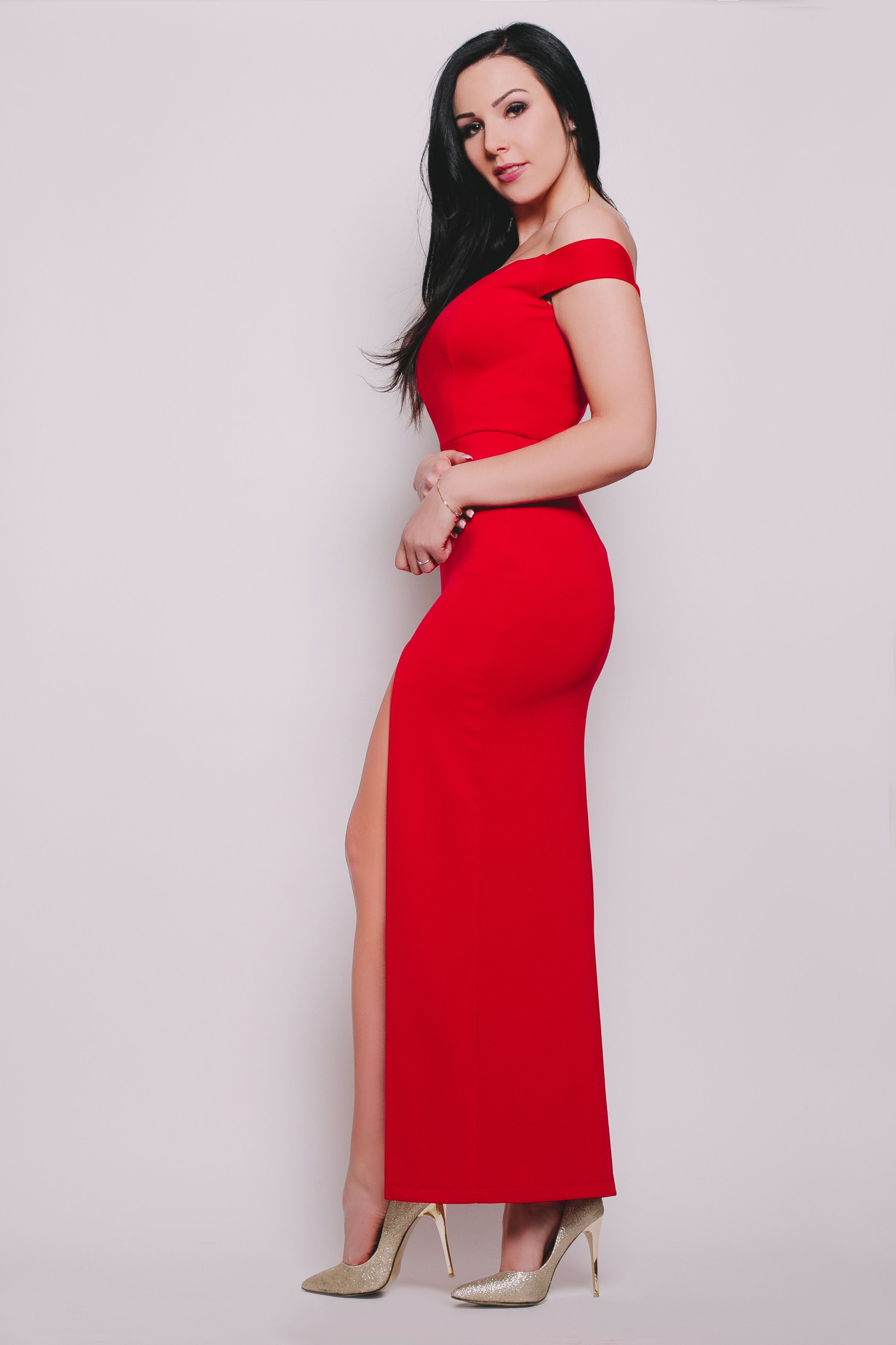d882fb18d1 Grace - sukienka maxi czerwona