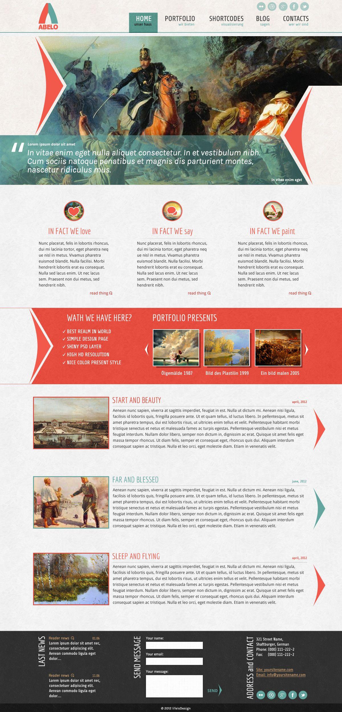 Abelo Website Template - ThemeForest