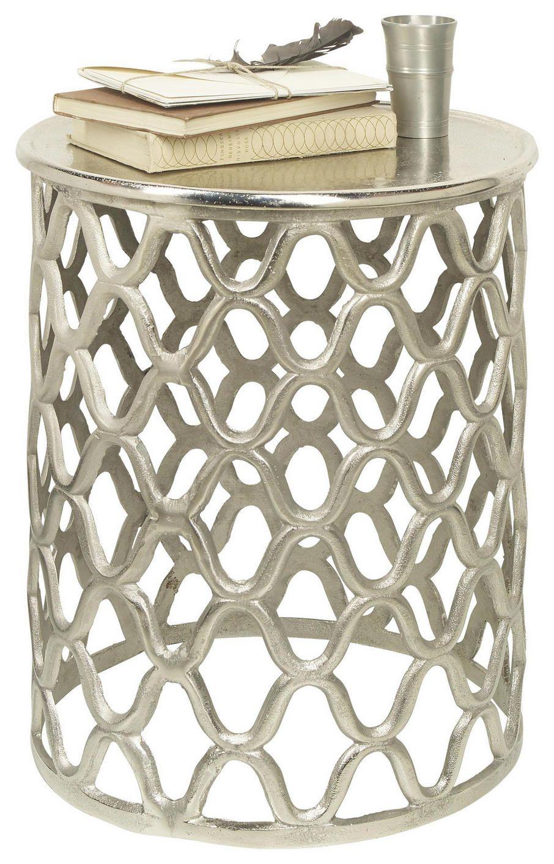 Silber Beistelltisch Rund Mit Exravaganten Verzierungen Silber Beistelltisch Beistelltisch Rund Tischplatte Rund
