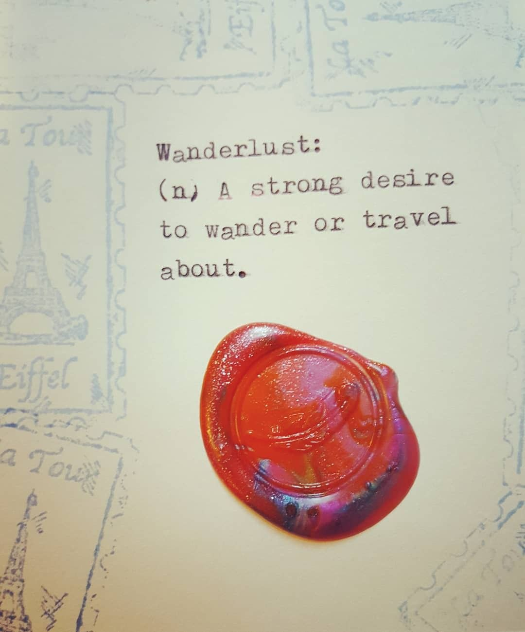 #travel #waxseal #travelquotes
