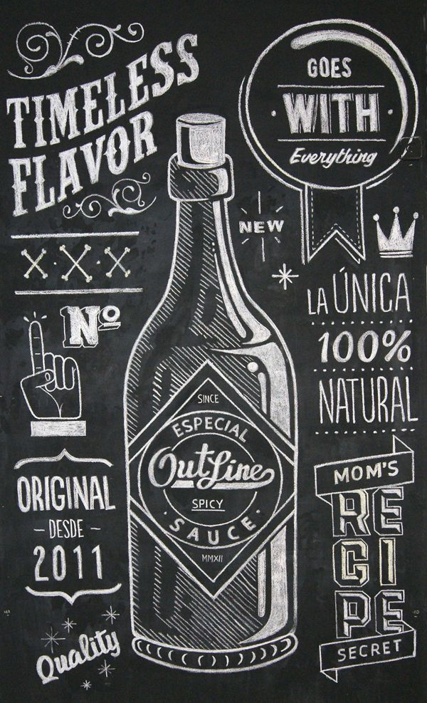 Love this design–fonts and all! Would be great inspiration for a wedding invite or a save the date. #Chalkboard