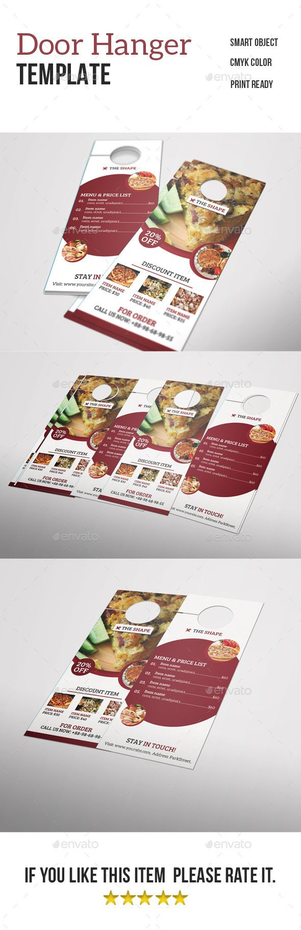 Restaurant Door Hanger Template PSD #design Download: http ...