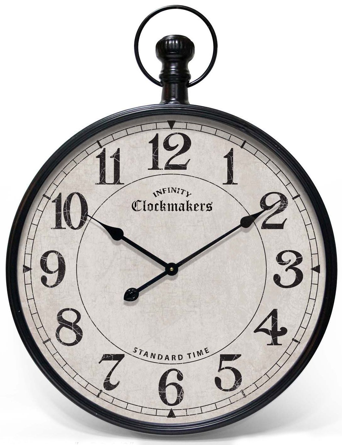 Grand central clock by infinity instruments large wall clock the grand central pocket watch wall clock is a classic pocket watch design the thick case is made of metal painted in amipublicfo Gallery