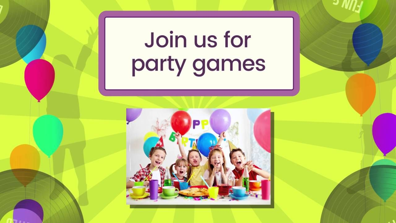 Kids Disco Party personalised video party invitation, available at ...