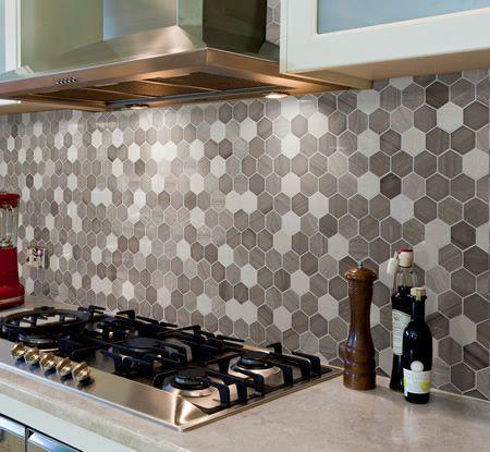 Sirocco Stonewash Hexagon Mid Mosaic 300mm X 300mm Sheet Kitchen