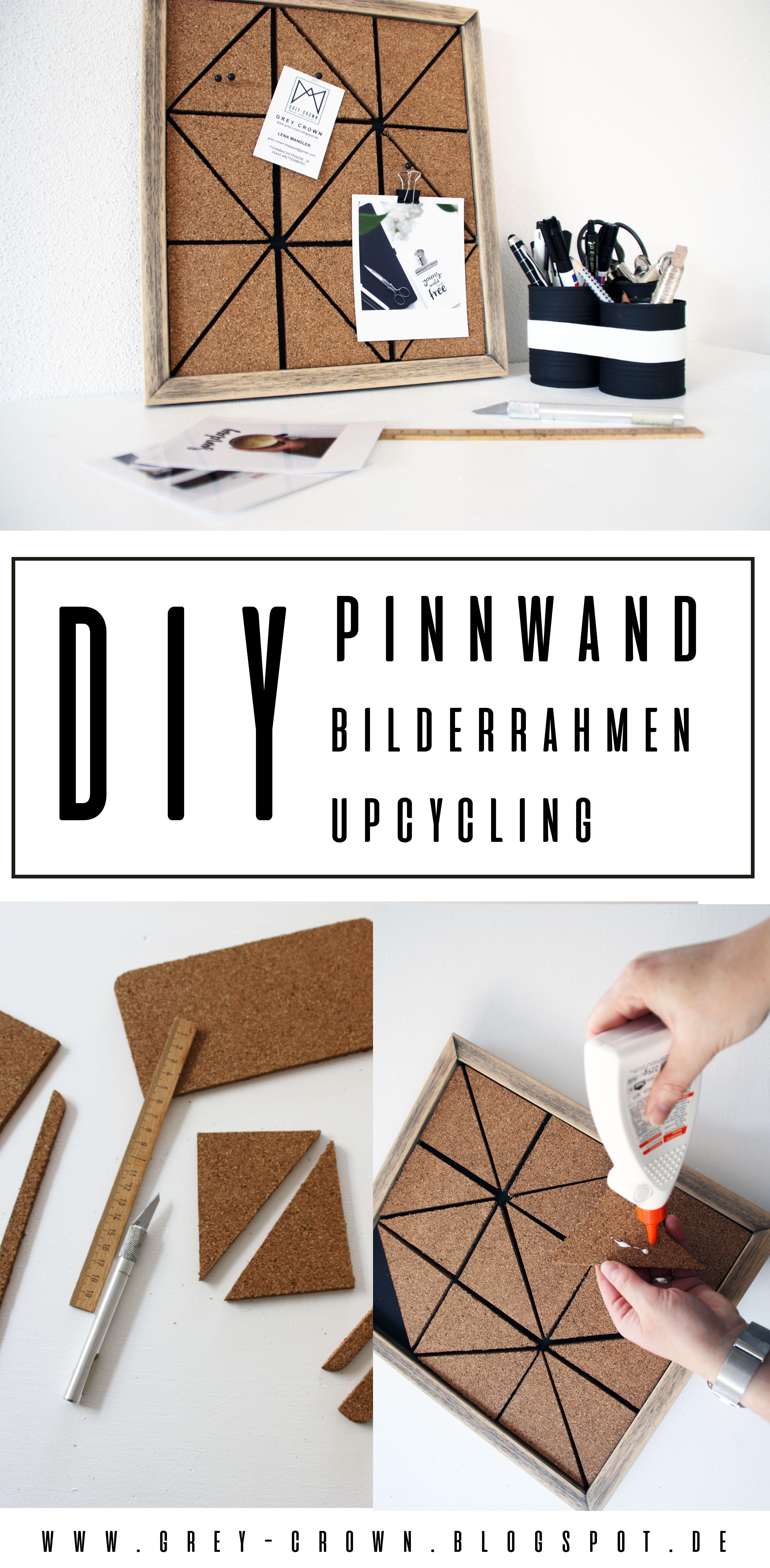 DIY Pinnwand einfaches Bilderrahmen Upcycling mit Kork inkl ...