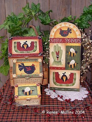 Summer Sampler & Boxes - Cartamodello