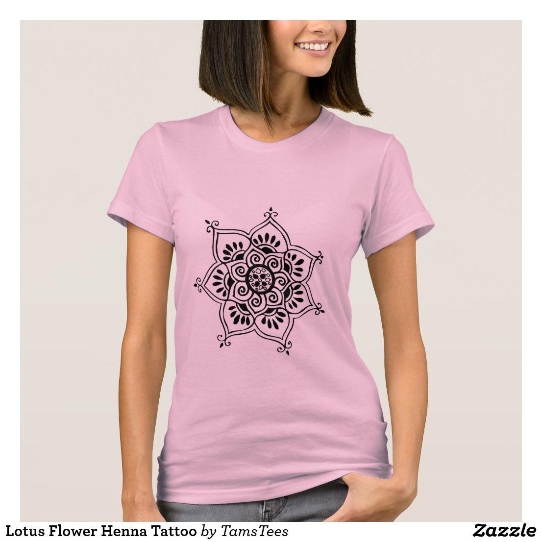 Lotus flower henna tattoo t shirt lotus flower henna flower henna lotus flower henna tattoo t shirt izmirmasajfo Images