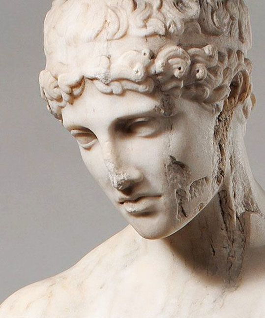 Eternal...Marble statue of a Youth, 1 century A.D., Roman copy of Greek original, adaptation of a Greek statue type of the late 5th century B.C. #greekstatue