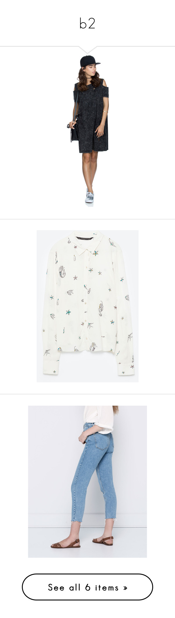 """""""b2"""" by ivanna149 ❤ liked on Polyvore featuring tops, white shirt, sirena, white patterned shirt, print shirts, patterned tops, jeans, sweaters, oversized tops and over sized sweaters"""