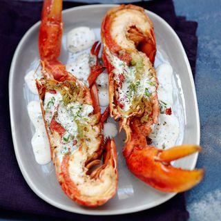 Homard grill au four sauce la cr me recette fruit de mer poisson homard grill homard - Recette poisson grille au four ...