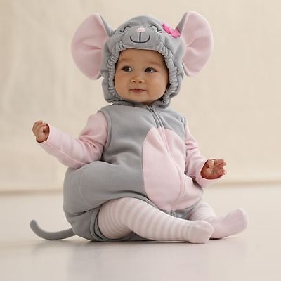 carters 6 9 months mouse halloween costume baby girl outfit clothes pink grey