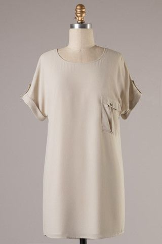 More Than Words Dress-Oyster