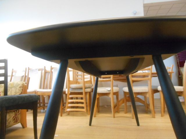 Ercol Chiltern Contract table in solid Oak and Black 180cm x 75cm x h75cm