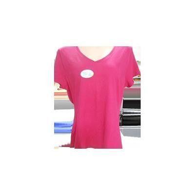 Women's Short Sleeve V-Neck Basic Tee, Rose Pink, Large Hanes