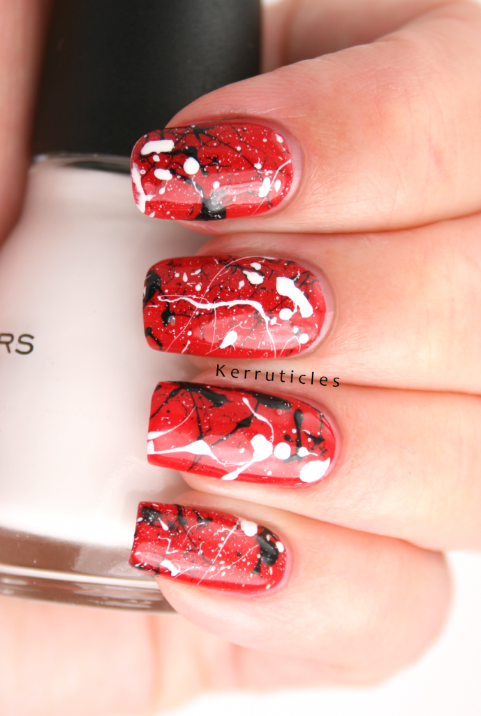 Love this red, black and white splatter | Kerruticles