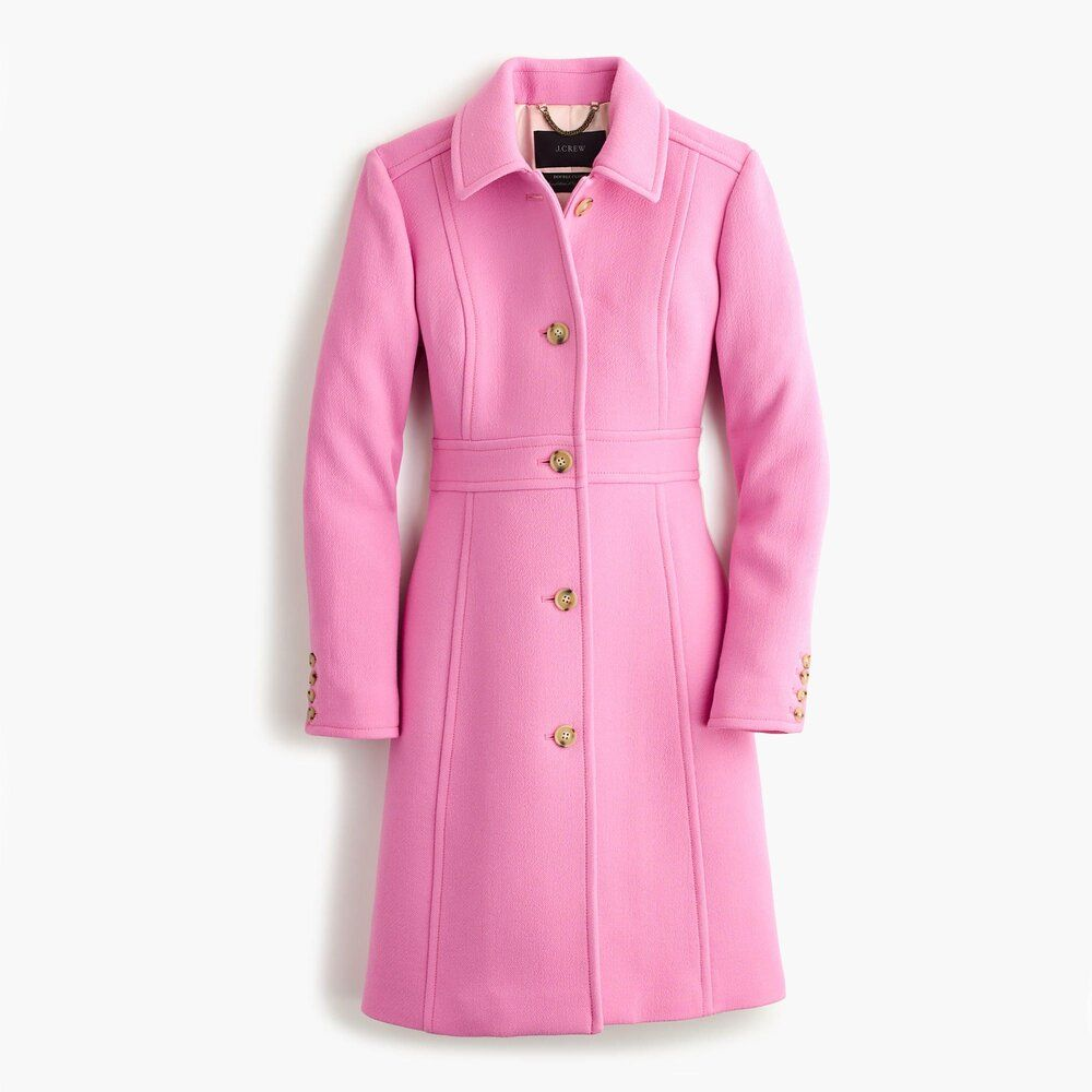 J Crew Lady Coat In Retro Pink Clothes Coats For Women Petite Coat [ 1000 x 1000 Pixel ]