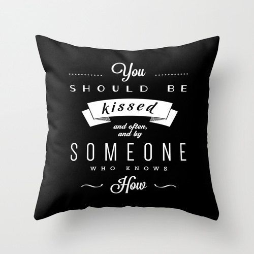 You Should Be Kissed Gone With The Wind Quote Pillow Cover Etsy In 2020 Gone With The Wind Wind Quote Quote Pillow Covers