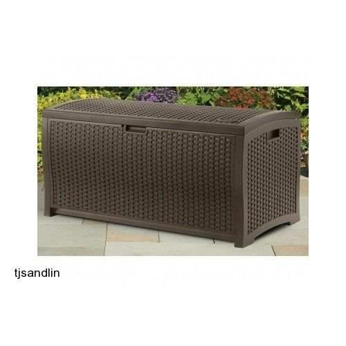 Charmant Patio Storage Box Deck Pool Garden Yard Porch Crate Resin Mocha Furniture  Bench #Suncast #