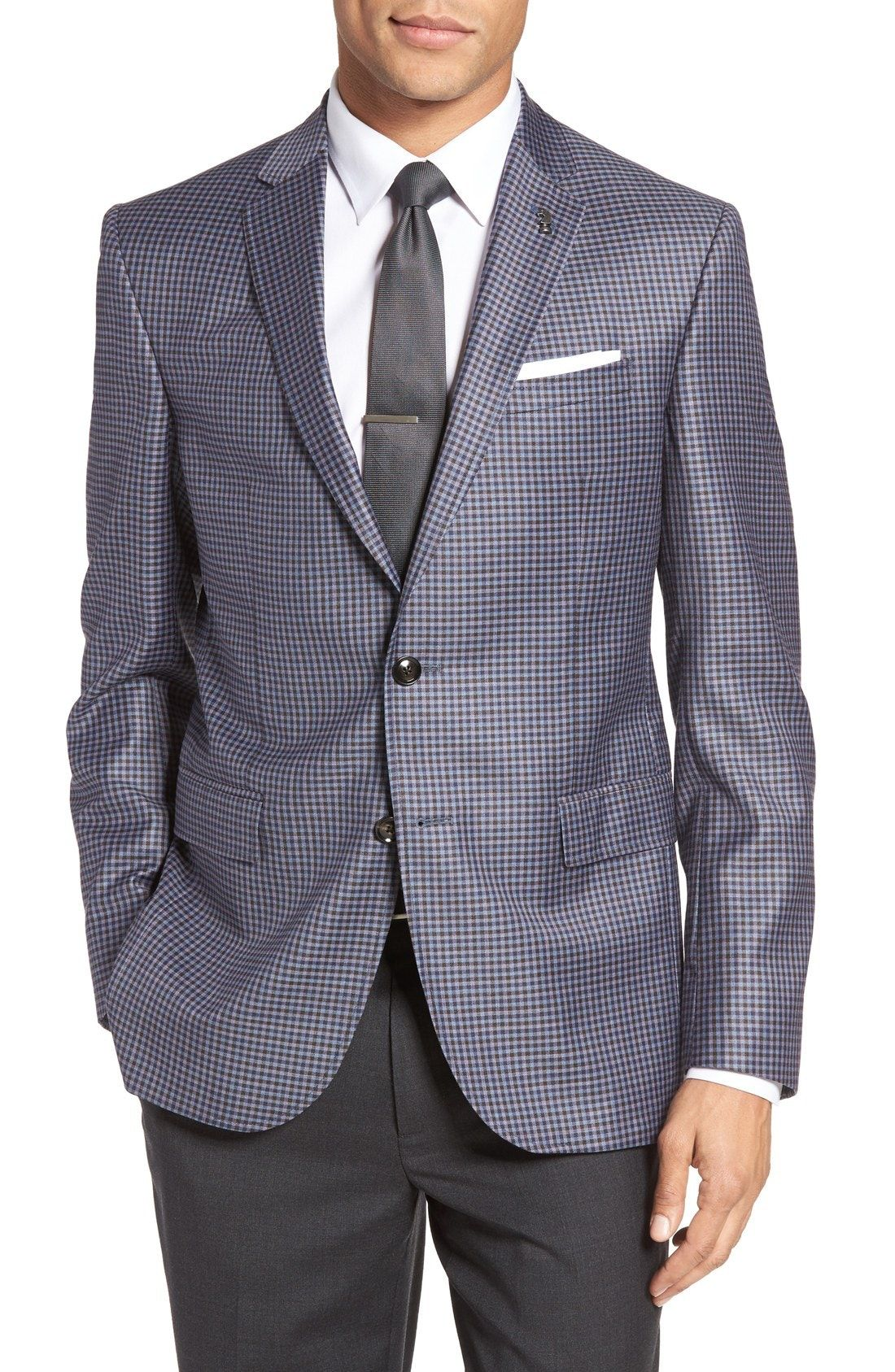 b150a0c520f3 New Ted Baker London Jay Trim Fit Check Wool Sport Coat