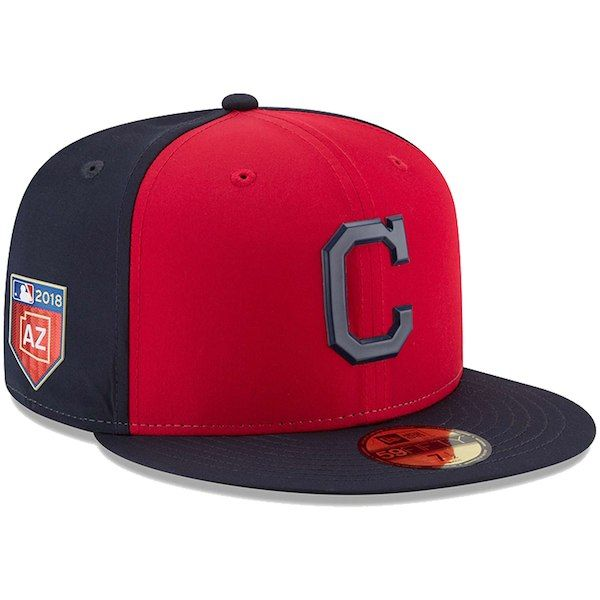 Men s Cleveland Indians New Era Red 2018 Spring Training Collection  Prolight 59FIFTY Fitted Hat 4520d27575d